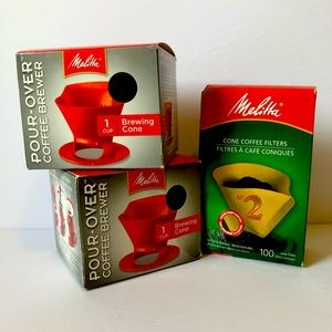 Lot of 3 MELITTA Pour-over Coffee Brewer, BNWT